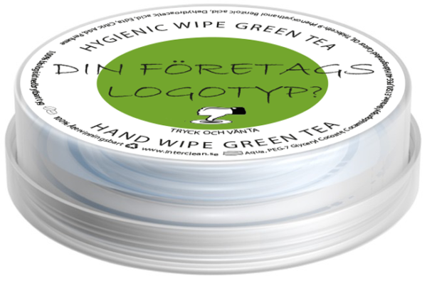 Våtservetter Green Tea Doft (FÖRETAGSTRYCK)